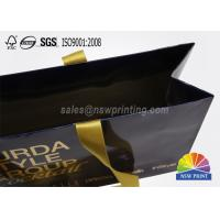 Glossy Laminated Full Color Printed Custom Paper Garment Bags with Ribbon Handle Manufactures