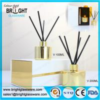 high quality glass gold reed diffuser bottle with gift box Manufactures