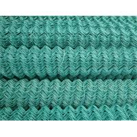 Pressure Resistance PVC Coated Chain Link Fence / Green Wire Mesh Fencing For Garden