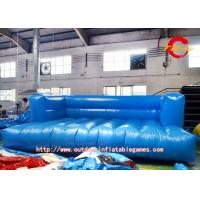 Outdoor PVC Sofa Inflatable Model Advertising 8m × 3m Blue 0.55mm Manufactures