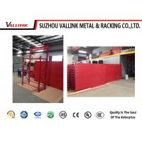 Buy cheap Red Tire Storage Rack Display Wire Shelving Rack Disposal Freely from wholesalers