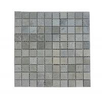 China Cheap Price Polished Grey Wooden-vein Mosaic Tiles For interior Wall Export By Factory on sale