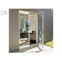 China Glass Hinged Aluminium Casement Door For Commercial and Residential on sale