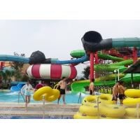 Big Combination Fiberglass Adult Water Slide High Speed For Water Park Manufactures