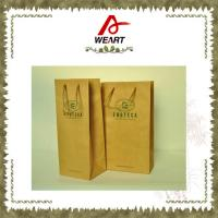 Promotional Kraft Paper Carrier Shopping Bags With Twisted Paper Handle Manufactures