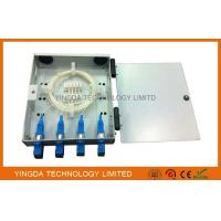 FTTH Wall Mounted Fiber Optic Termination Box, 4 Fibers Fiber Splice Box SC Adaptor with Pigtails Manufactures