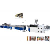 China TPU / TPR / TPE PVC Plastic Profile Making Machine For Ceiling and Decking on sale