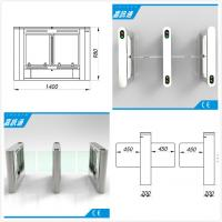 China Airport / Metro / Swimming Hall Speed Gate Half Height Turnstile with Automatic Rfid Reader on sale