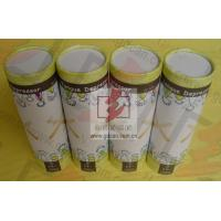 China Food Grade Cylinder Cardboard Box / Round Tube Packaging For Food on sale