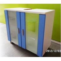 China Hotel Waterproof Modern Bathroom Sink Furniture Cabinet With Tempered Glass on sale