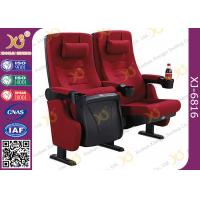 China PP Outer Back Fabric Black Plastic Shell Cushion Theater Chairs For Stadium on sale