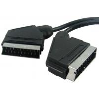 Copper SCART To SCART Cable A / V Cable Assemblies For Euro TV Manufactures