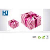 Beautiful eco - friendly Cardboard Gift Packing Boxes with Lid For Scarves Manufactures
