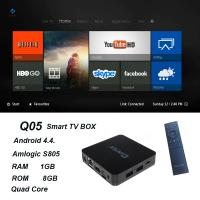 QINTAIX Hot Amlogic S805 TV Box with Quad Core smart TV box Support H.265 Q05 ITPV channels Manufactures
