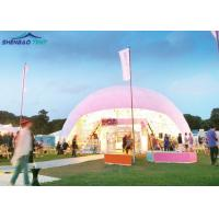 China Dia 5-40m Steel Frame Transparent PVC Exhibition Tent Geodesic Dome Tent on sale