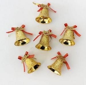 China Golden 5 cm Christmas bells hang Christmas decorations Christmas gift Christmas tree ornaments on sale