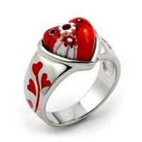 China OEM Women' s gold plated Agate murano glass graceful kingdom hearts rings for Engagement on sale