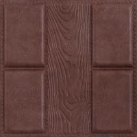 China Quality-assured Beautiful decorative Factory price 3D leather wall panel wholesale