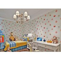 White Embossed Nonwoven Fireproof  Kids Bedroom Wallpaper Cake Pattern Manufactures