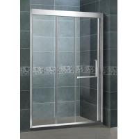 Full Stainless Steel Glass Corner Shower Glass Double Sliding Enclosure For Home