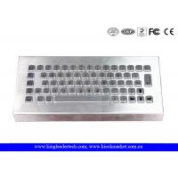 Free Stand Desktop Stainless Steel Metal Keyboard for Industrial Using Manufactures