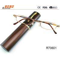 Unisex Super Light Metal frame Reading Glasses With Aluminum alloy tube Box Manufactures