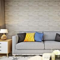 China 3D Brick Effect Contemporary Style Vinyl Wall Covering 0.53*10M wholesale