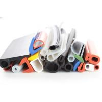 China silicone rubber strip tubing silicone rubber extrusions profiles colorful white red blue green section wholesale