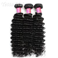 China Deep Wave Cambodian Grade 6A Virgin Hair  Natural Black  No Terrible Smell wholesale