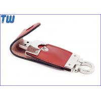 Buy cheap Leather Package 4GB Thumb Drive Memory Device 3D Debossed Logo from wholesalers