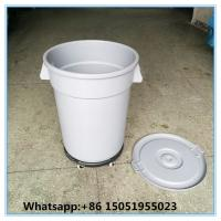 30gallon Industrial Round Waste recycling container with dolly pack waste basket bins  for recycling Manufactures