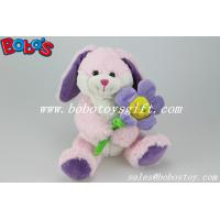 Pink Bunny Stuffed Animal With Sun Flower As Valentine gifts Manufactures