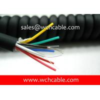 UL20280 (24AWG) 8 Conductors Oil Resistant TPU Spiral Cable Black Jacket with Colorful PP Insulated Wire