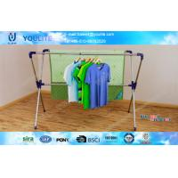 Buy cheap X-type Extending Folding Clothes Rack , Steel Standing Clothes Drying Rack from wholesalers