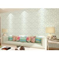 Non - woven Living Room Wallpaper , Economical modern home wallpaper Floral Manufactures