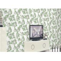 Green Plants And Round Pattern 3D Embossed Wallpaper Surface Treatment Manufactures