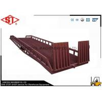 China Truck dock ramps Unloading With handle pump / container loading ramp on sale