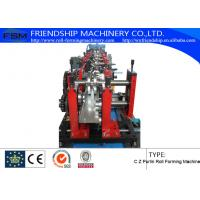 Automatic hydraulic system C Z Purlin Roll Forming Machine With Pre-Punching Manufactures