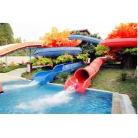 Kids amusement park Curved Spiral Water Slide for family / adult Manufactures