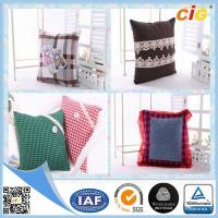 China Plain Natural Linen Cushion Cover / Chair Seat Pillow with Custom Color and Size wholesale