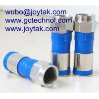 China Compression Connector F Type Male Waterproof 75ohm 50ohm RG6 RG59 Coaxial Cable / F.C.041 on sale