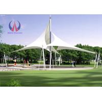 High Strength Permanent Tent Structures , Tension Shade Structures Earthquake Resistant Manufactures