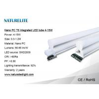 Nano PC T5 integrated LED Tube 4-15W 90-95lm/W CRI>80Ra for Counter Display Lighting Manufactures