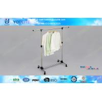 Steel Movable Portable Clothes Rack Heavy Duty  for Quilt / Towel Space Saving Manufactures