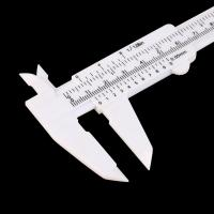 China Precision Eyebrow Shaping Tools Plastic Measuring Vernier Slide Caliper wholesale