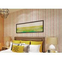 Non Woven Vertical  Modern Striped Wallpaper For Living Room , Size Customized Manufactures