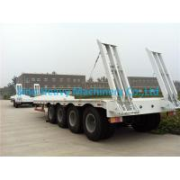 Flatbed Manual Semi Trailer Trucks 4 Axles with Four Double Air Chamber Manufactures