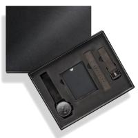 China Big Size Black Paper Watch Storage Box For Watch And Strap , Logo Customized on sale