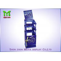 3 Shelves Retail Standee Advertising Foldable Display Stand With Trays Holding Manufactures