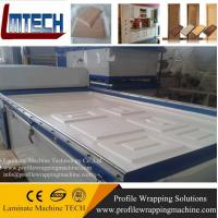 double station vacuum membrane press machine for door laminating with pvc veneer (two tables) Manufactures
